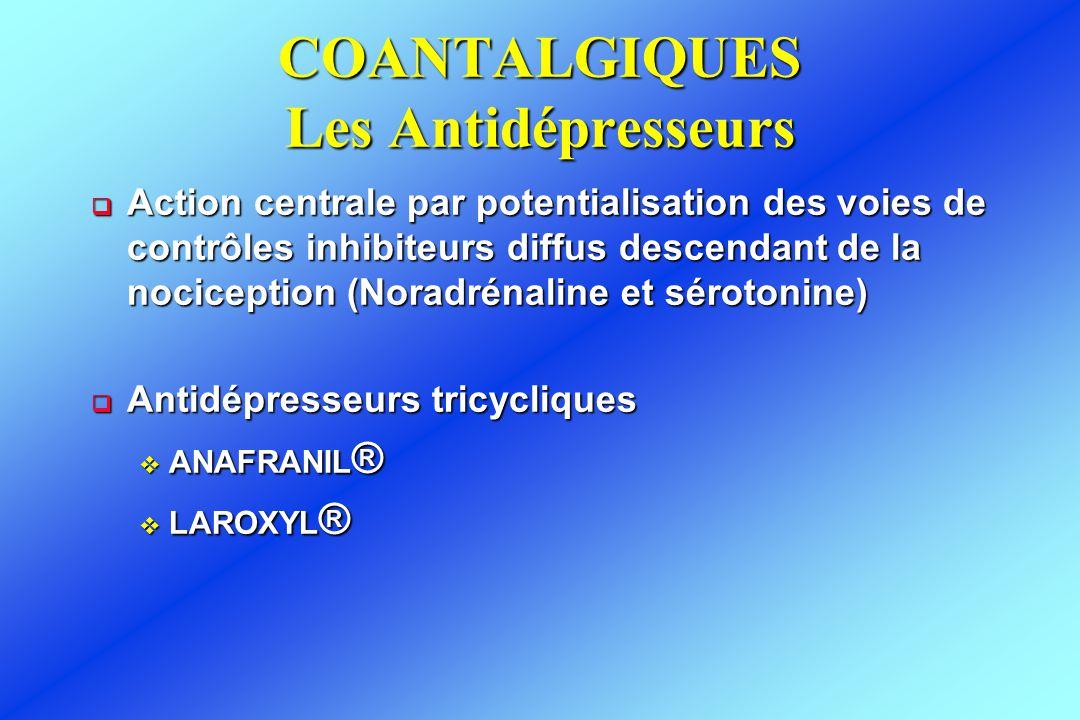 COANTALGIQUES Les Antidépresseurs