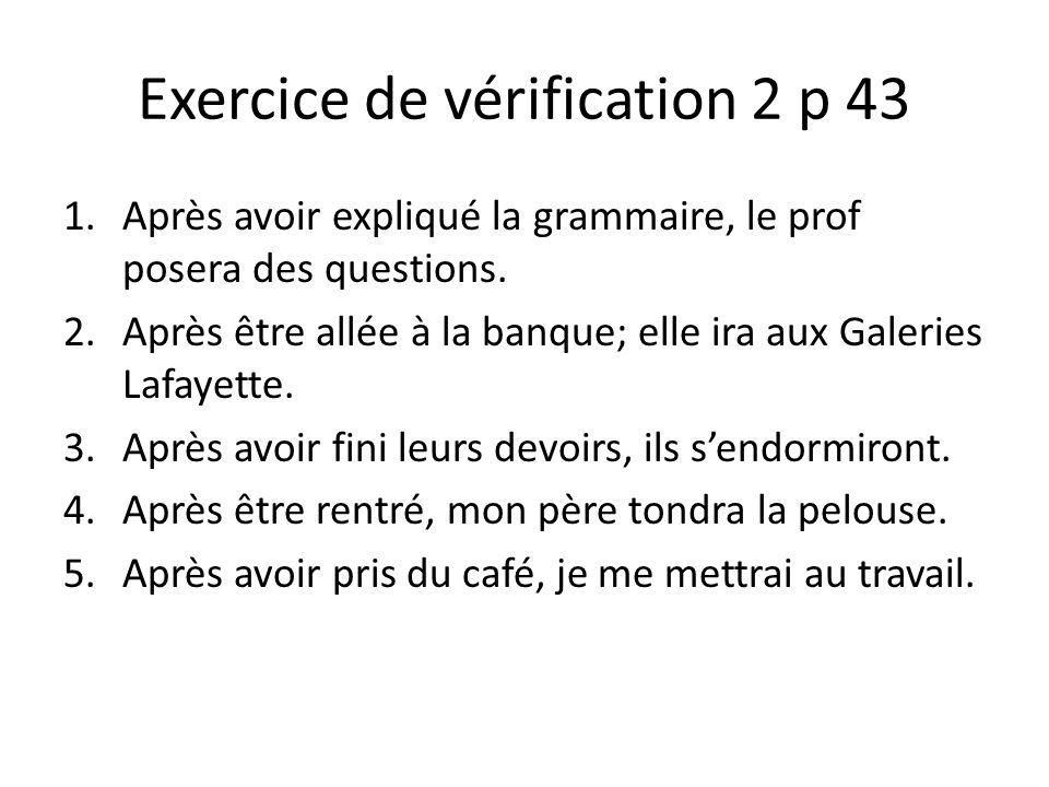 Exercice de vérification 2 p 43