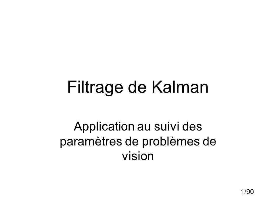 Application au suivi des paramètres de problèmes de vision