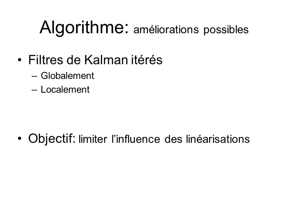 Algorithme: améliorations possibles