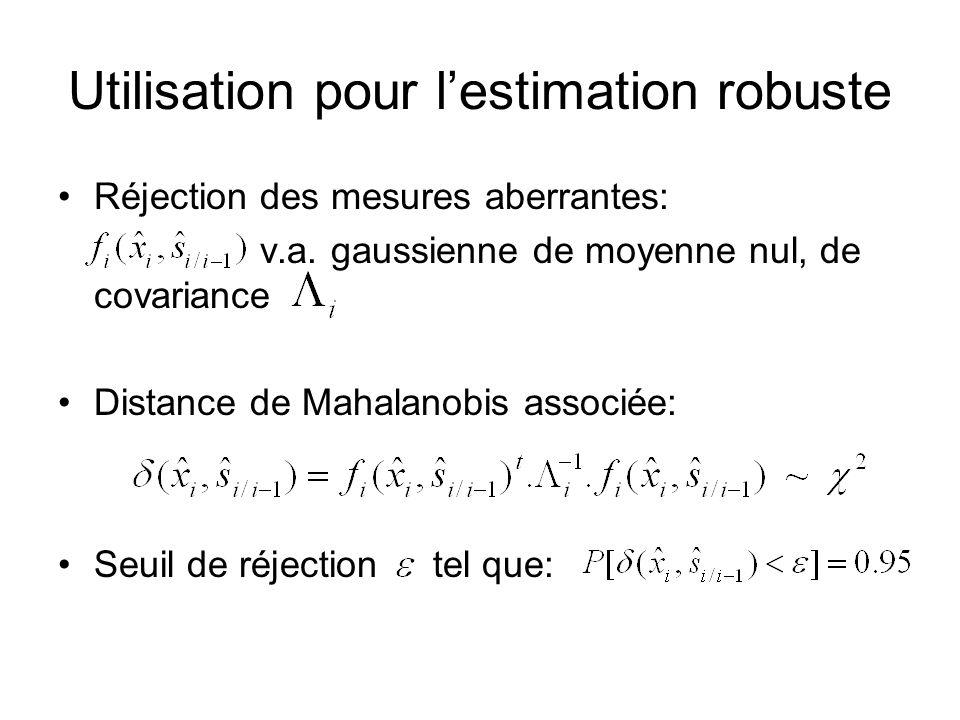 Utilisation pour l'estimation robuste