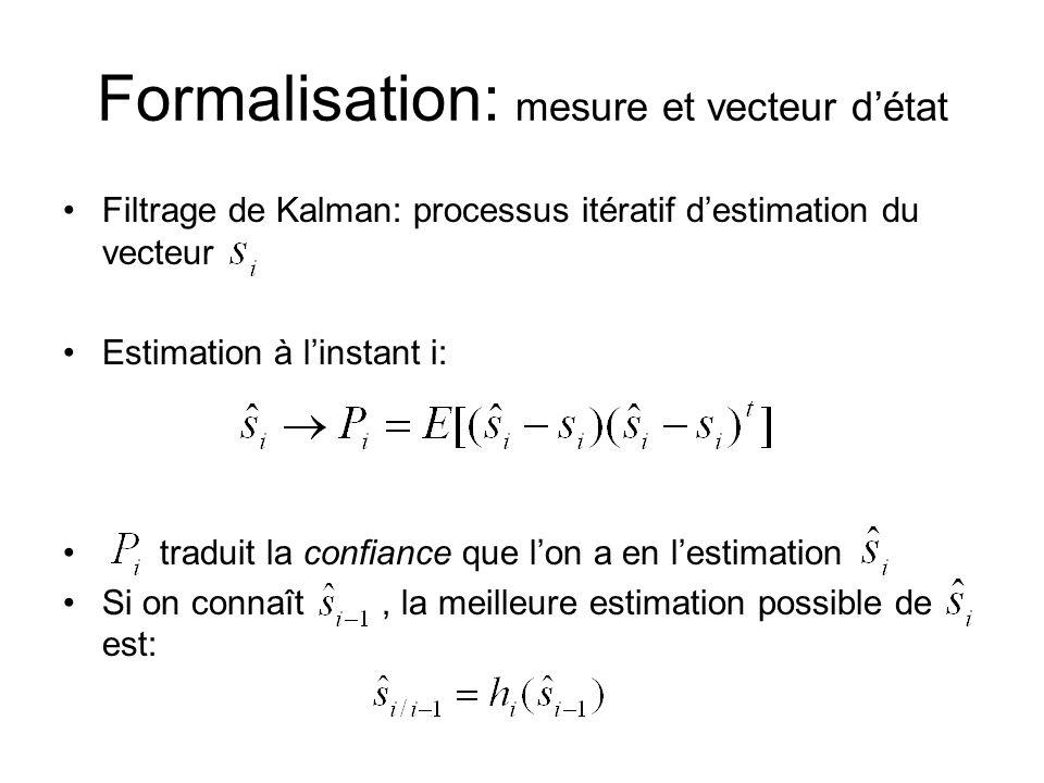 Formalisation: mesure et vecteur d'état