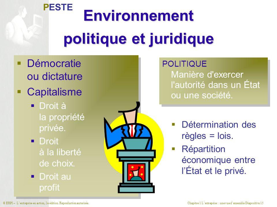 Environnement politique et juridique