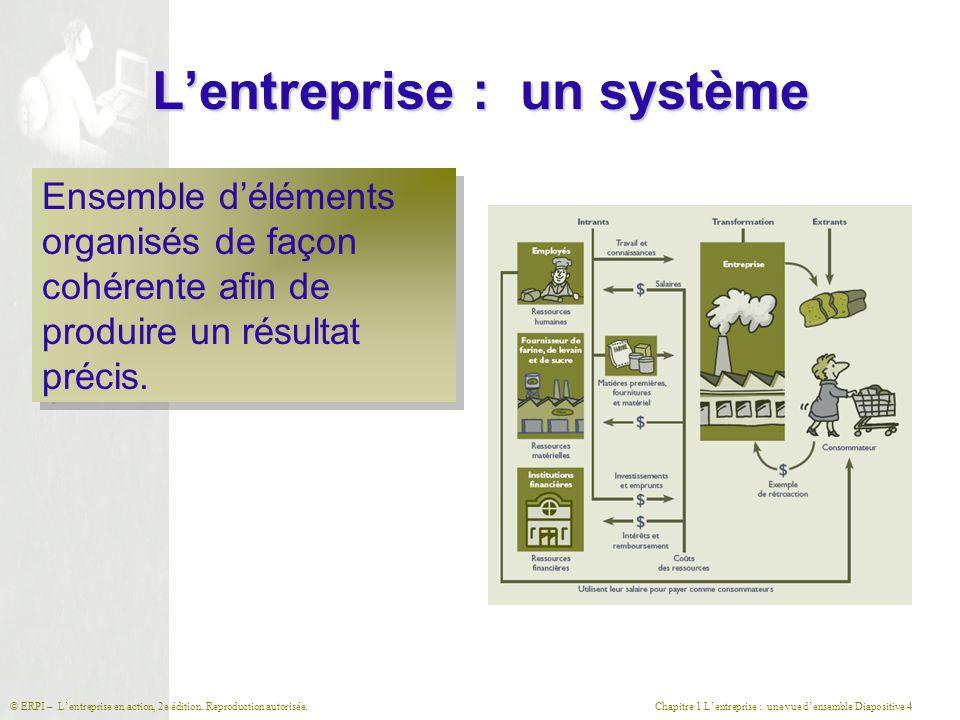 L'entreprise : un système