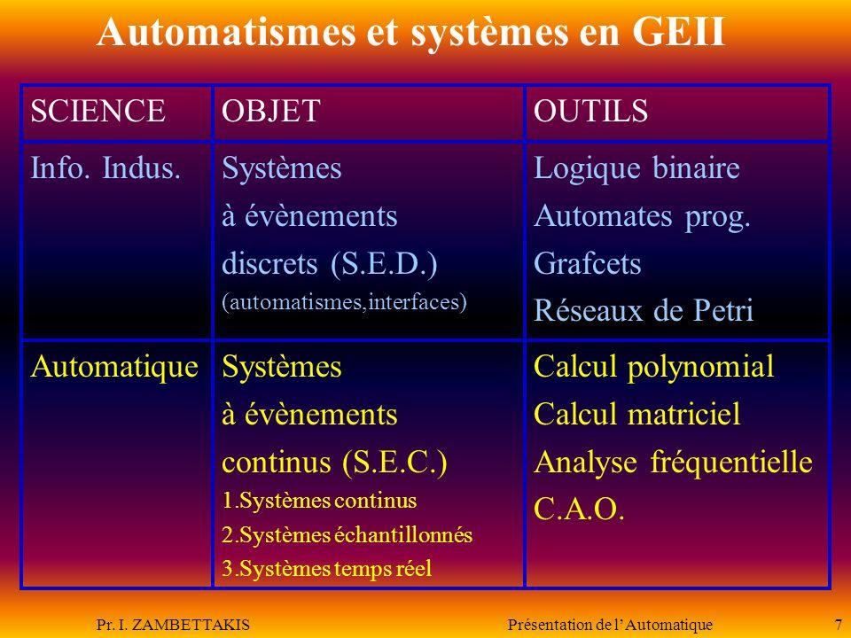 Automatismes et systèmes en GEII