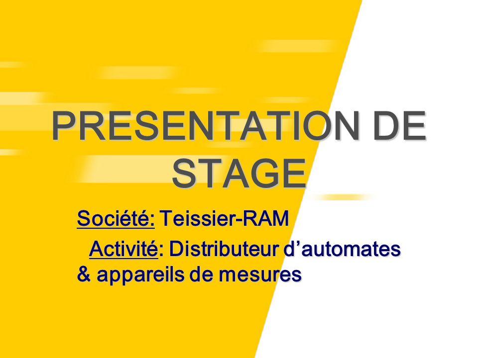 PRESENTATION DE STAGE Société: Teissier-RAM