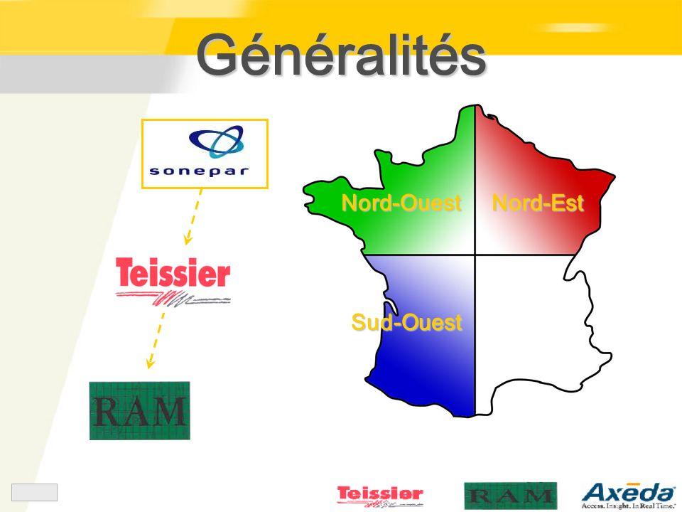 Généralités Nord-Ouest Nord-Est Sud-Ouest