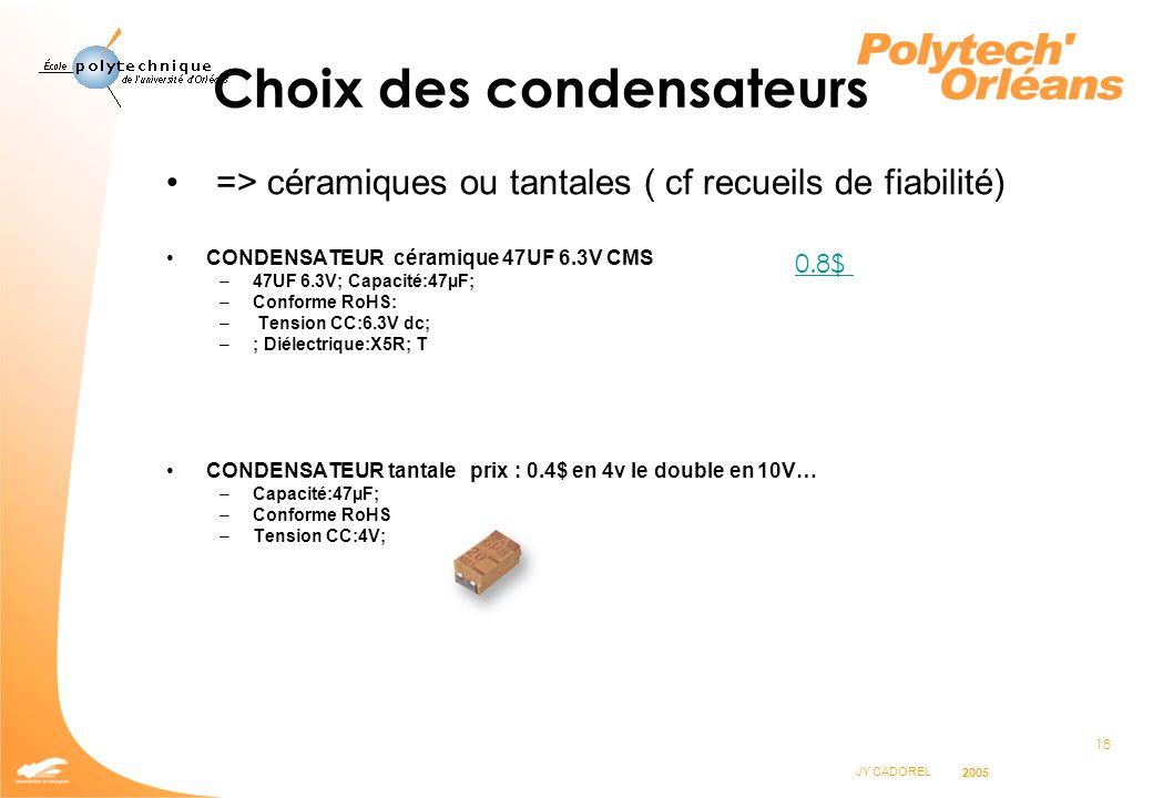 Choix des condensateurs