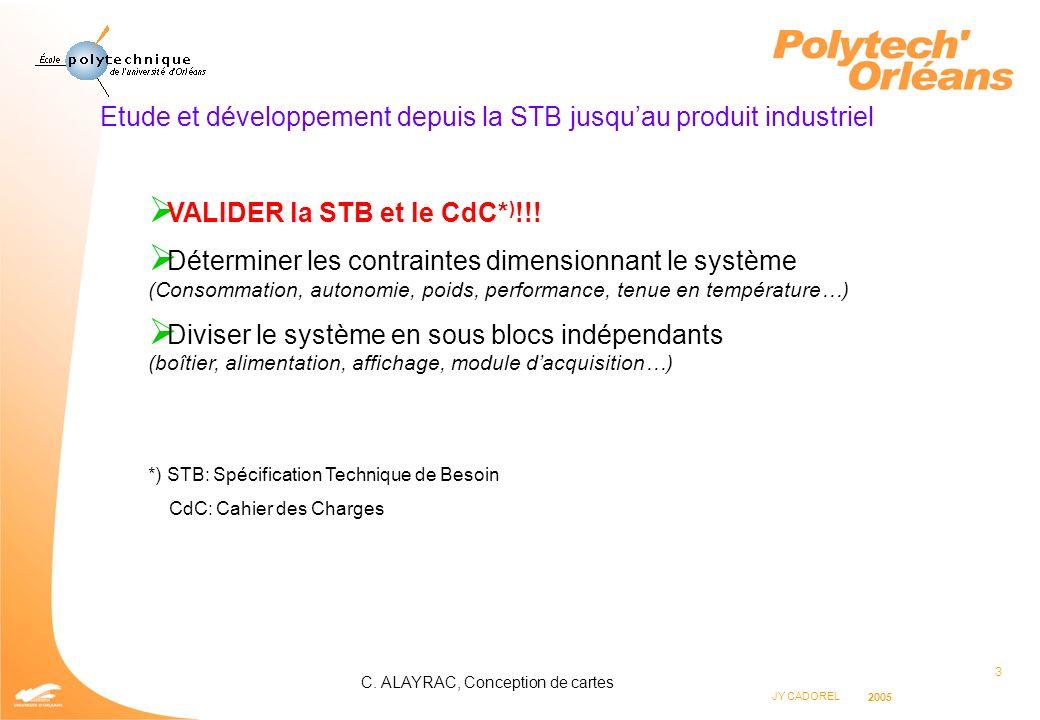 Etude et développement depuis la STB jusqu'au produit industriel