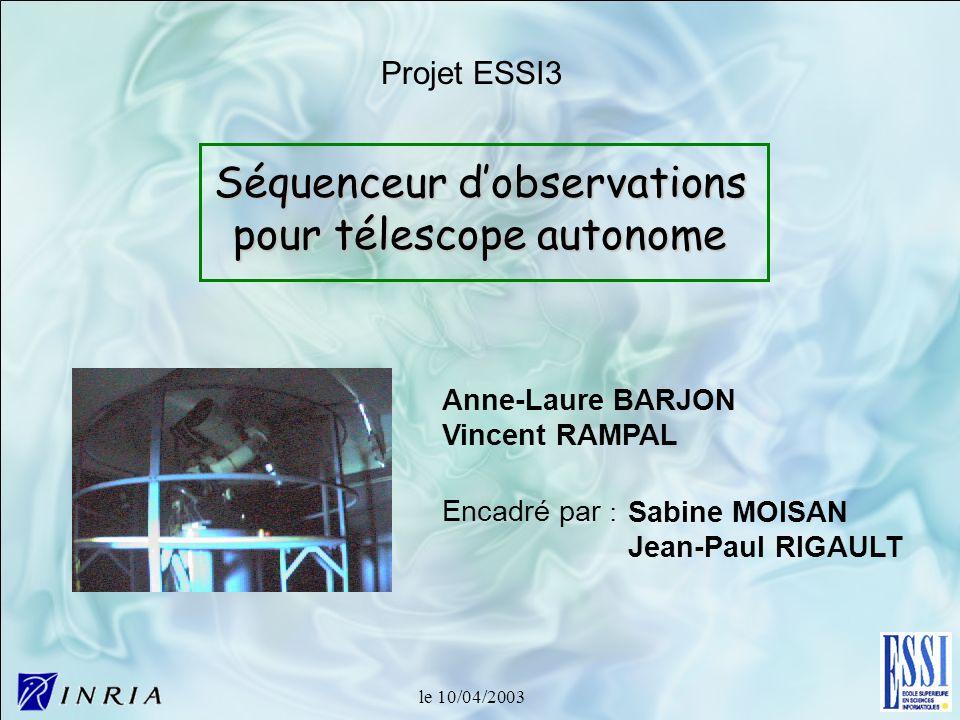 Séquenceur d'observations pour télescope autonome