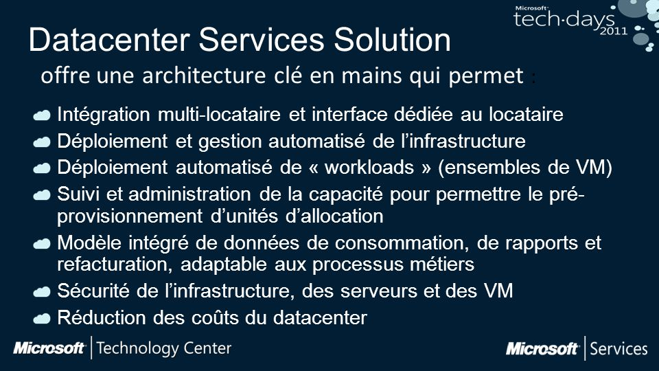 Datacenter Services Solution