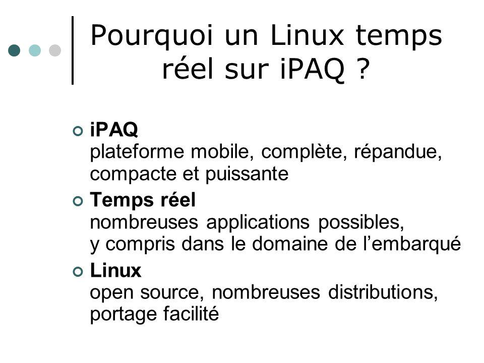 Pourquoi un Linux temps réel sur iPAQ