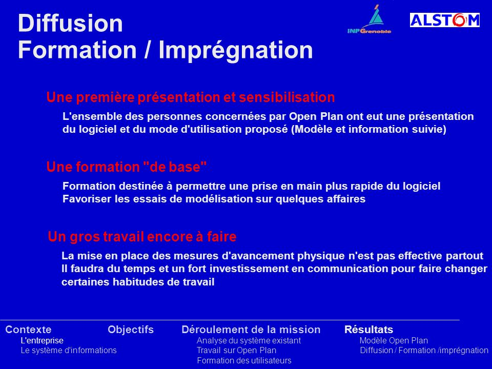 Formation / Imprégnation