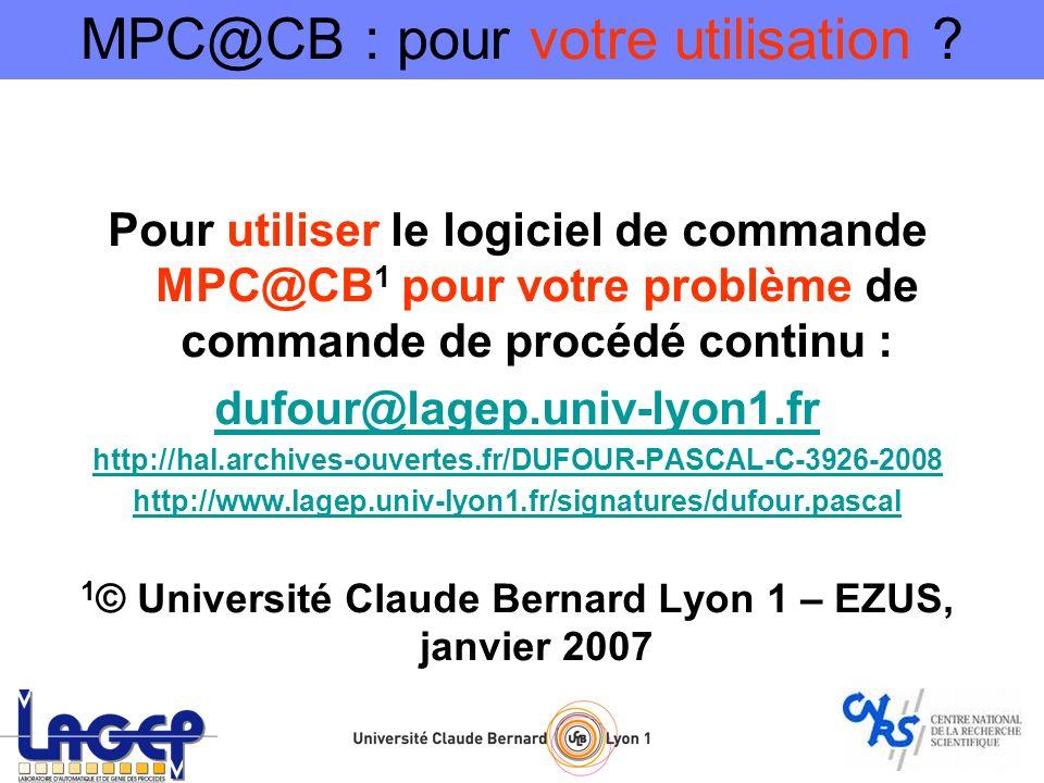 1© Université Claude Bernard Lyon 1 – EZUS, janvier 2007