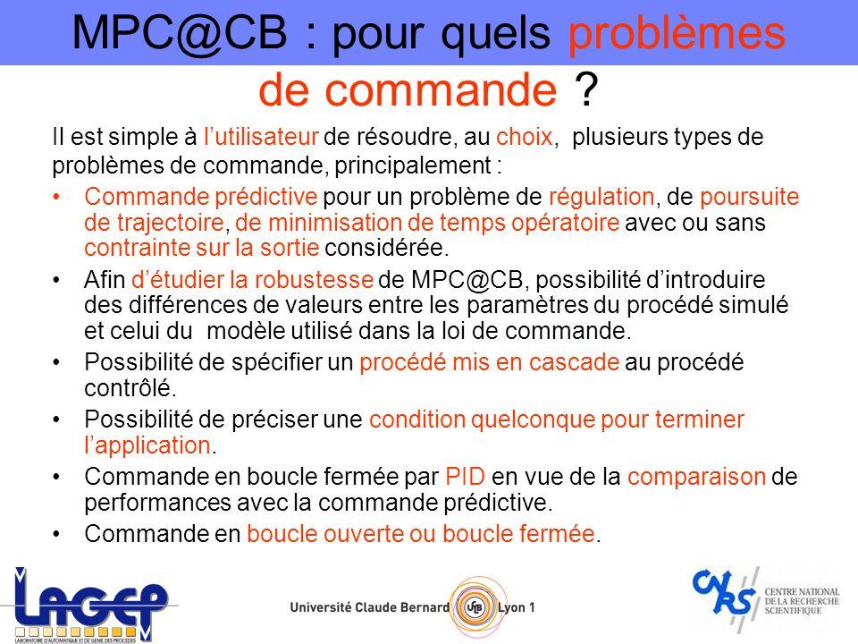 MPC@CB : pour quels problèmes de commande