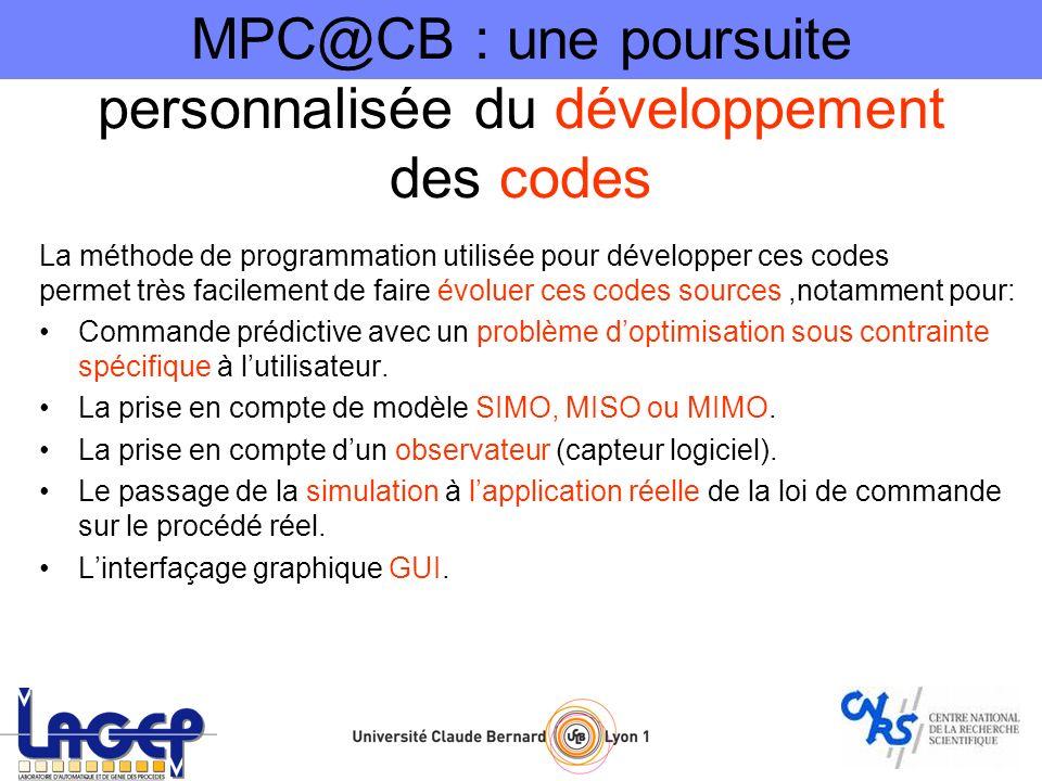 MPC@CB : une poursuite personnalisée du développement des codes