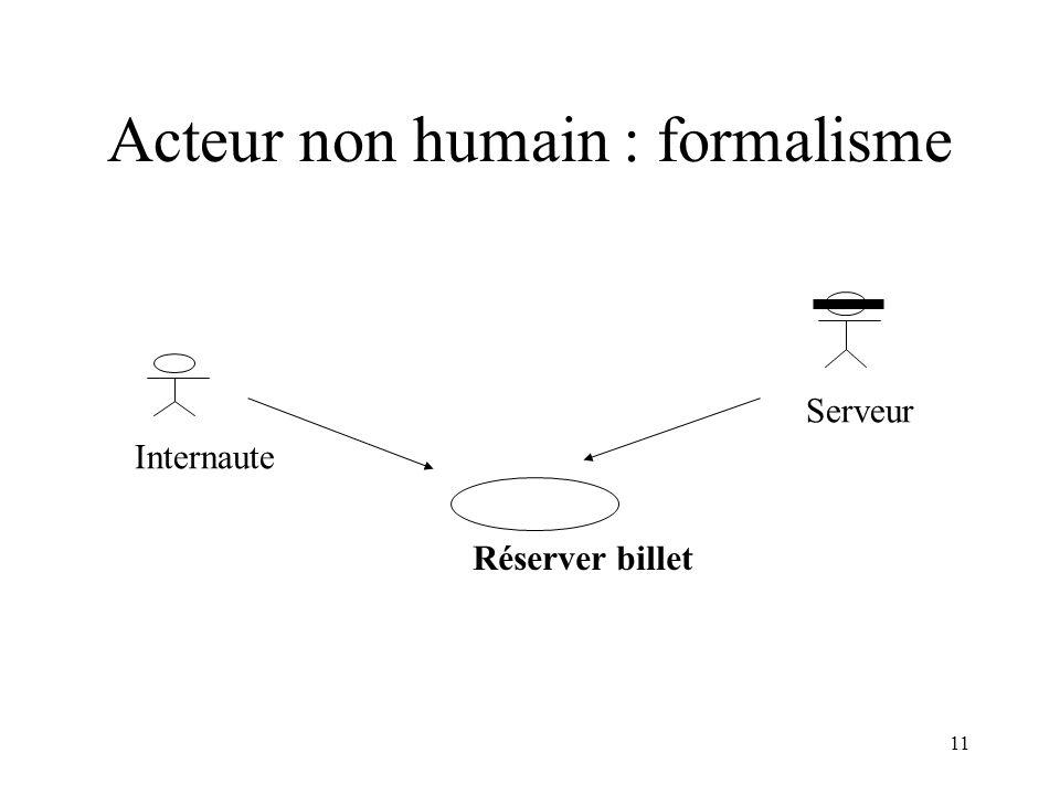 Acteur non humain : formalisme