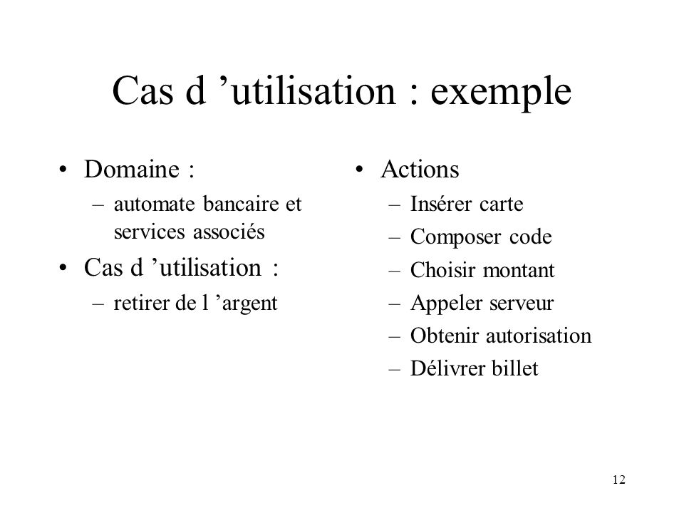Cas d 'utilisation : exemple