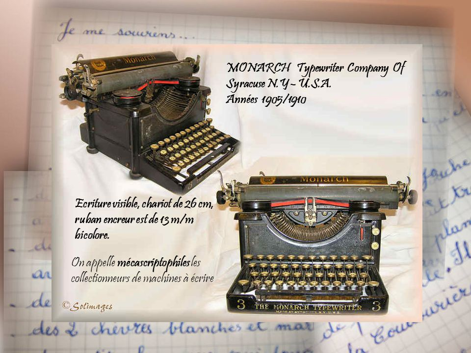 MONARCH Typewriter Company Of Syracuse N.Y – U.S.A.