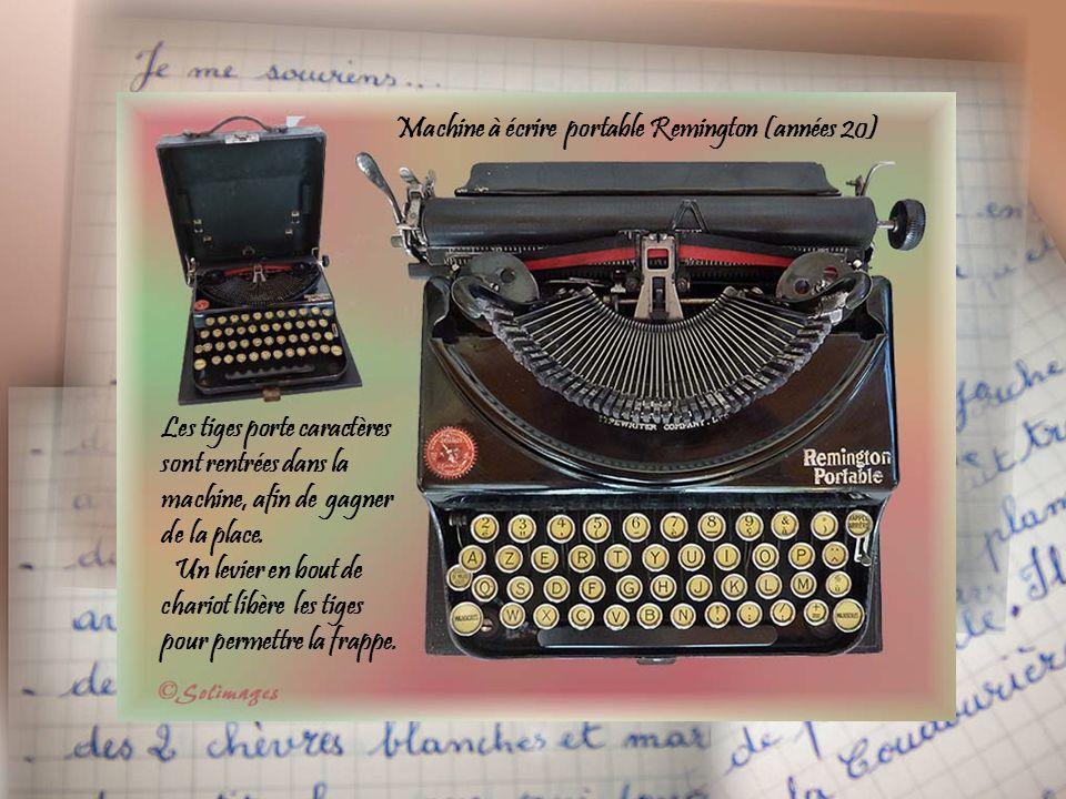Machine à écrire portable Remington (années 20)