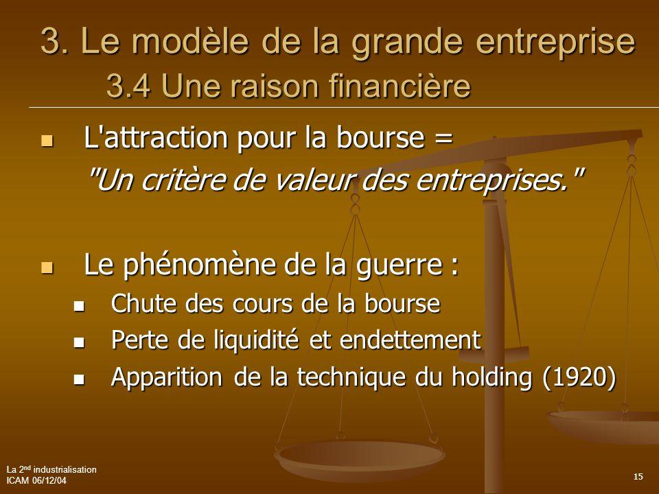 3. Le modèle de la grande entreprise 3.4 Une raison financière