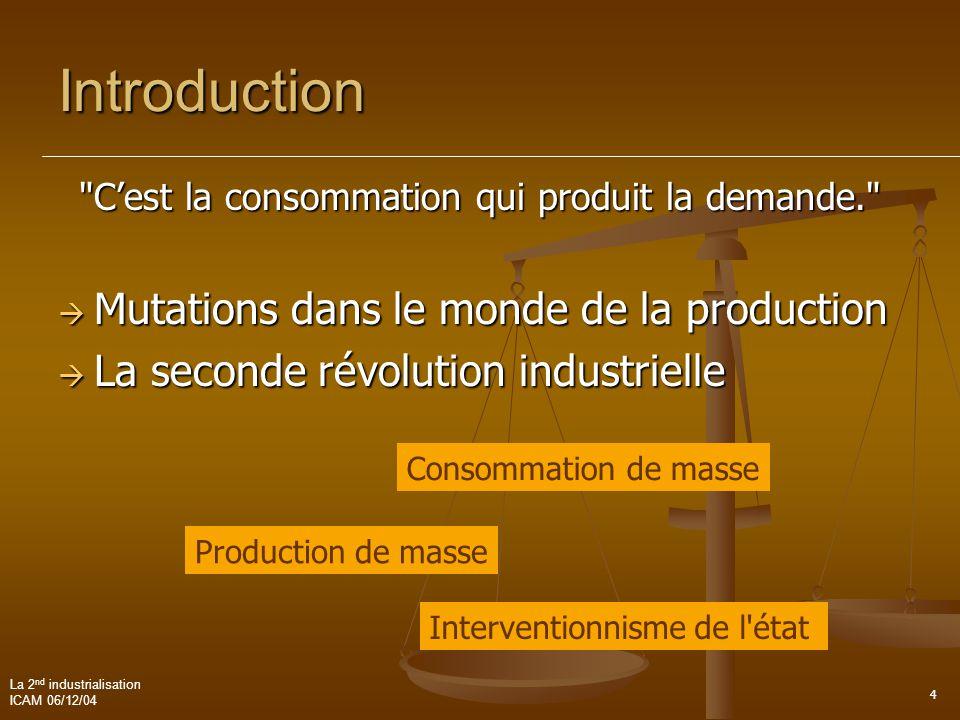 C'est la consommation qui produit la demande.