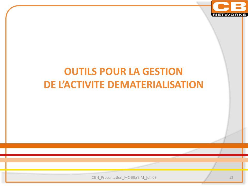 DE L'ACTIVITE DEMATERIALISATION