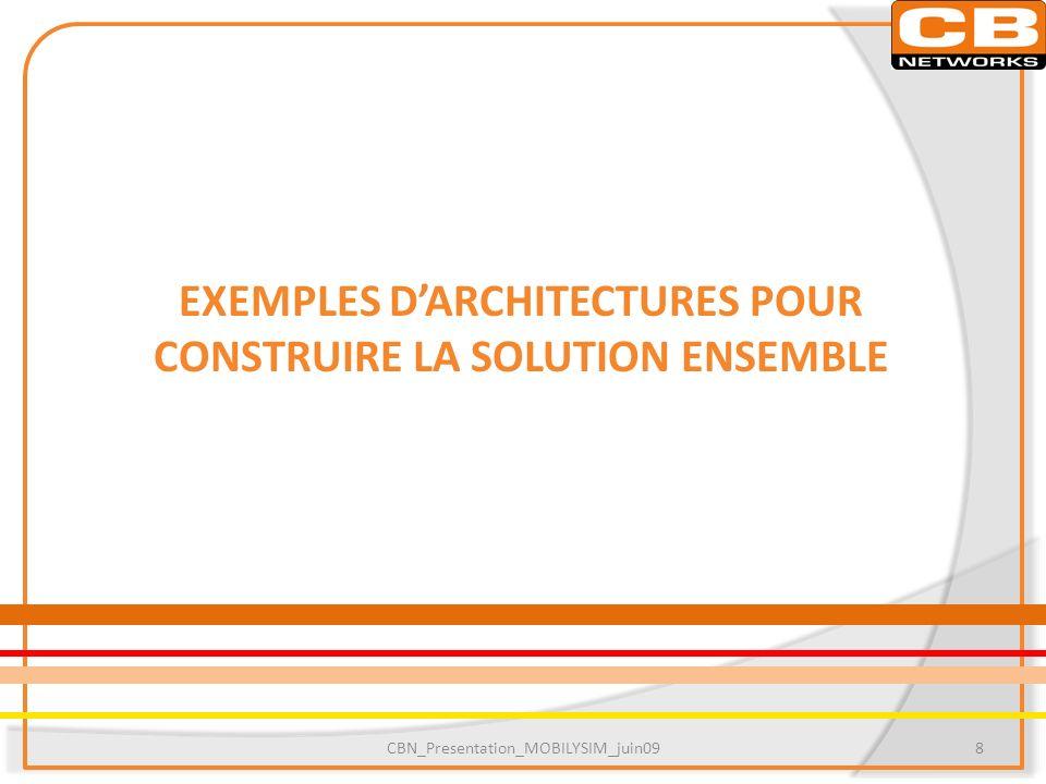 EXEMPLES D'ARCHITECTURES POUR CONSTRUIRE LA SOLUTION ENSEMBLE