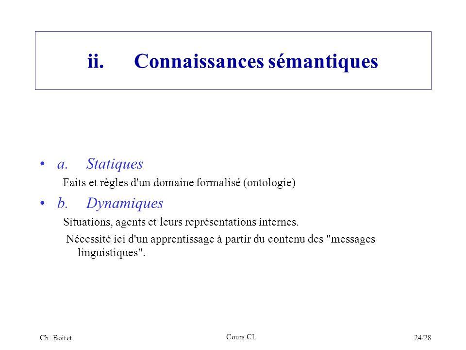 ii. Connaissances sémantiques