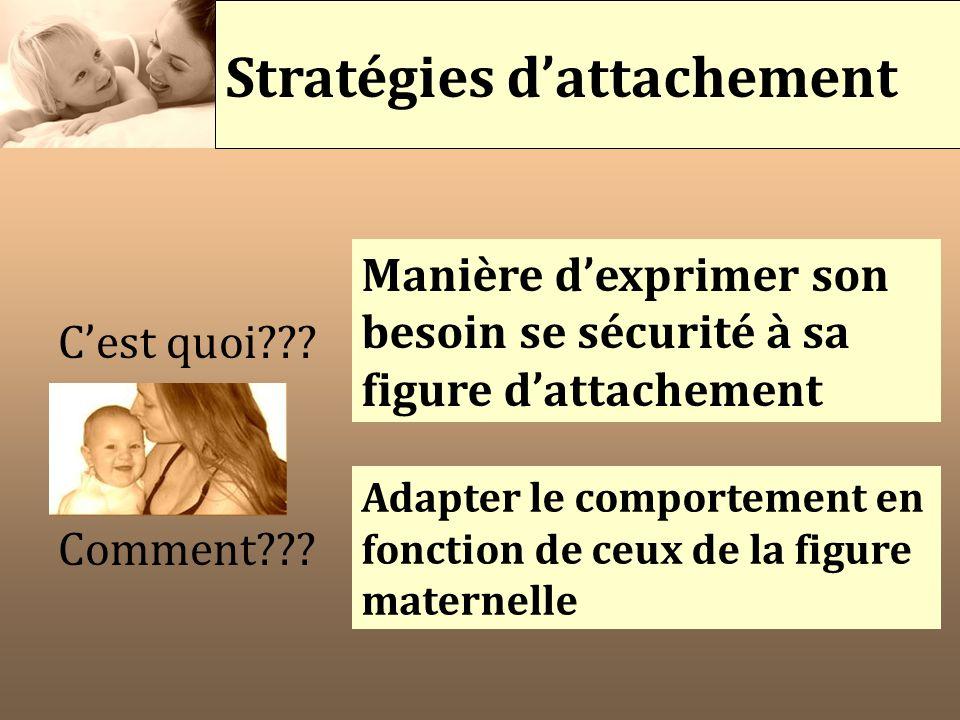 Stratégies d'attachement