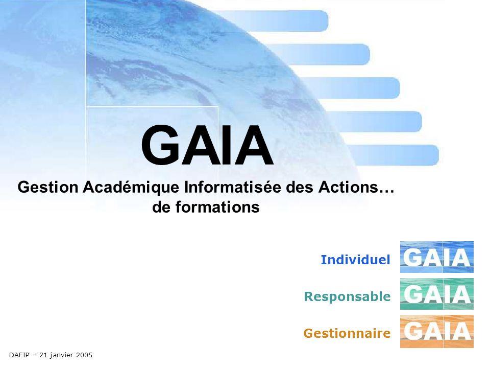 GAIA Gestion Académique Informatisée des Actions… de formations