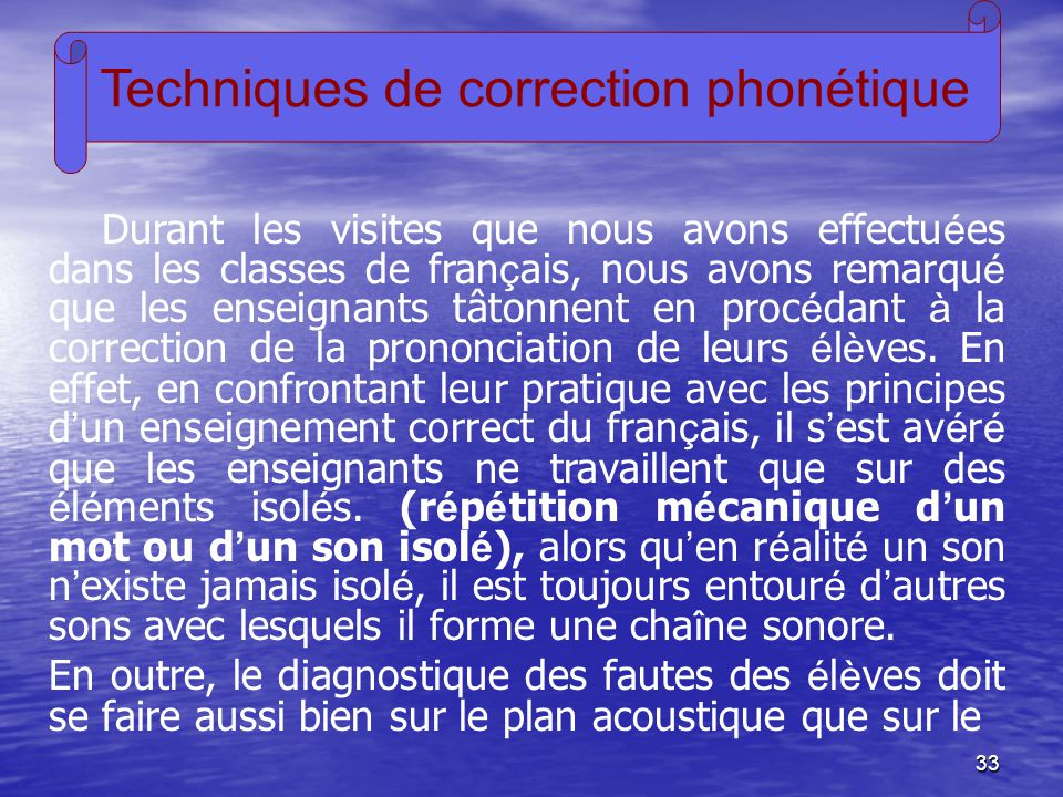 Techniques de correction phonétique