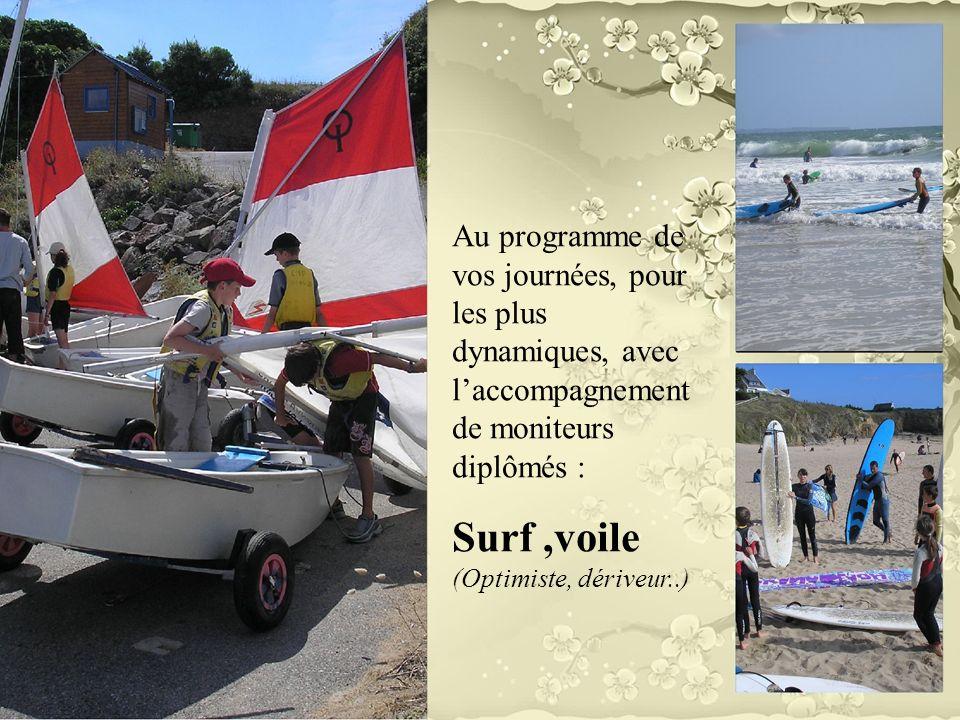 Surf ,voile (Optimiste, dériveur..)