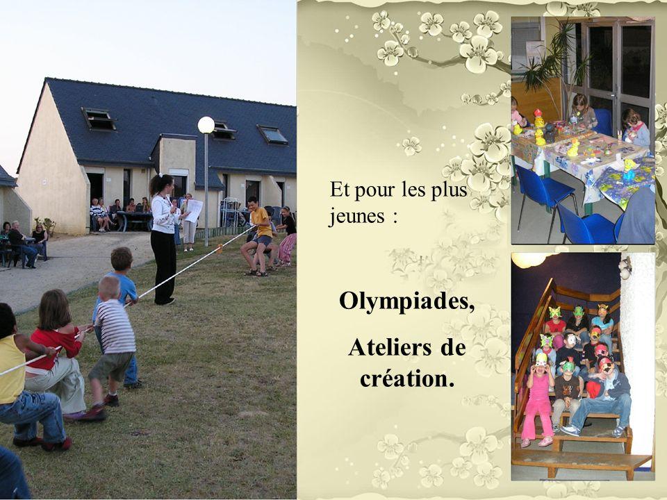 Olympiades, Ateliers de création.