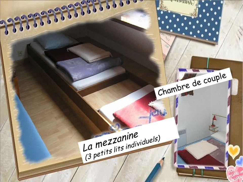La mezzanine (3 petits lits individuels)