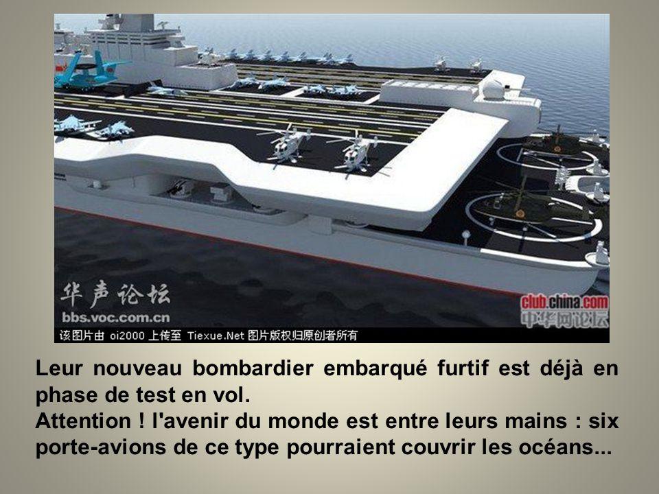 Leur nouveau bombardier embarqué furtif est déjà en phase de test en vol.