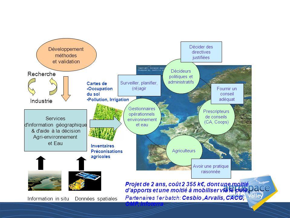 INFOAGRI: un Observatoire et une capacité opérationnelle de services en information géographique pour l agriculture,l agri-environnement et le suivi des problématiques clé en Europe Environnement (eau, sols) et PAC