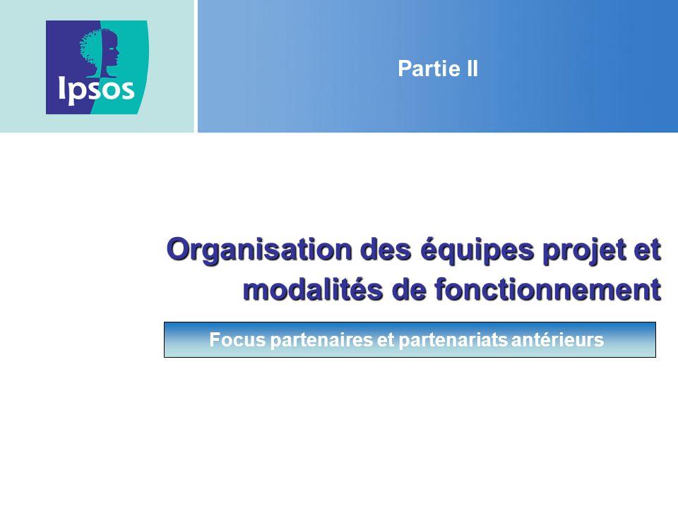 Organisation des équipes projet et modalités de fonctionnement
