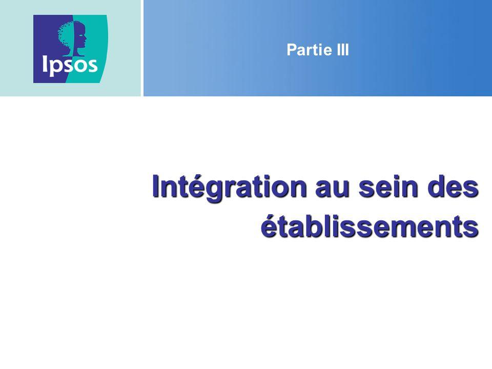 Intégration au sein des établissements
