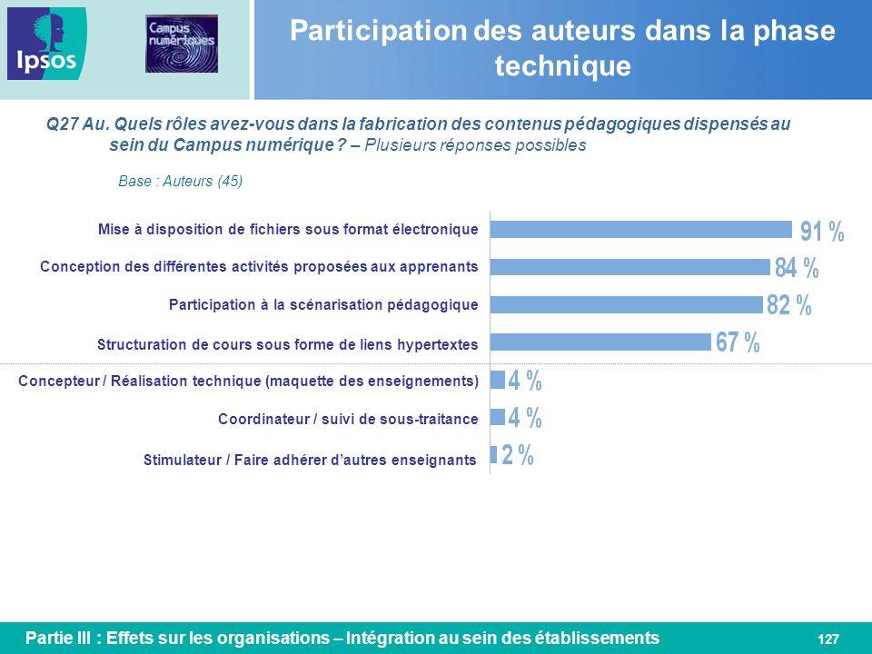 Participation des auteurs dans la phase technique