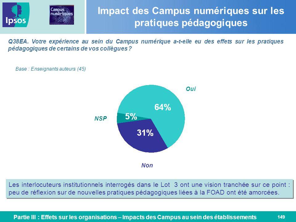 Impact des Campus numériques sur les pratiques pédagogiques