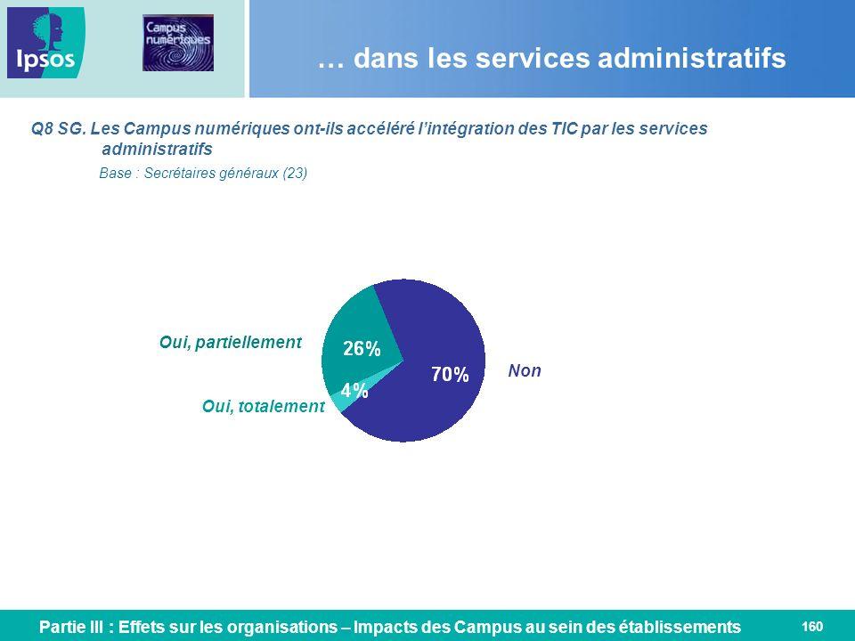 … dans les services administratifs