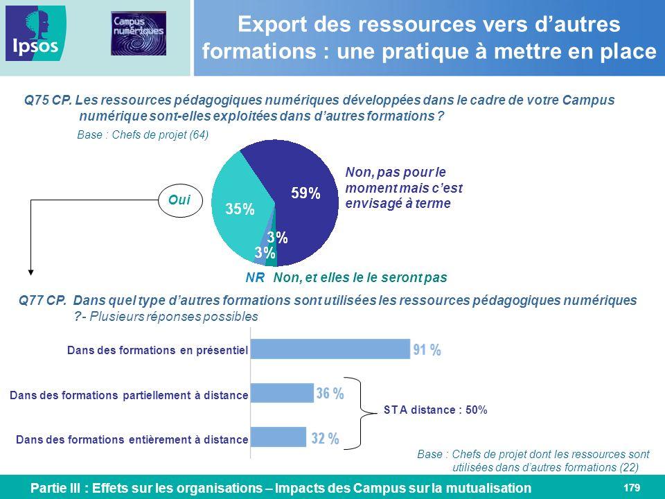 Export des ressources vers d'autres formations : une pratique à mettre en place