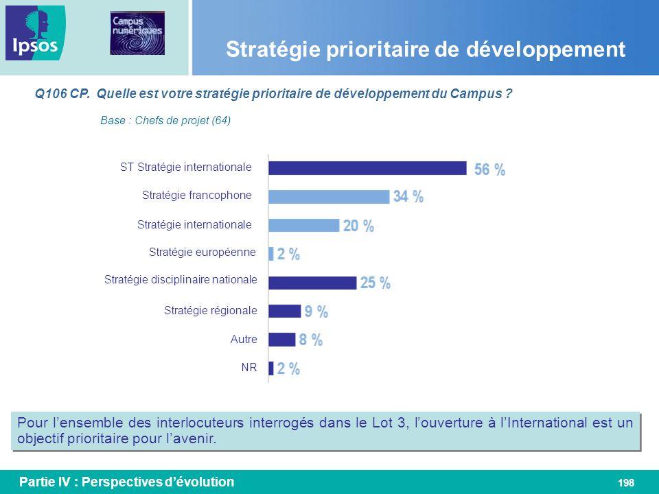 Stratégie prioritaire de développement