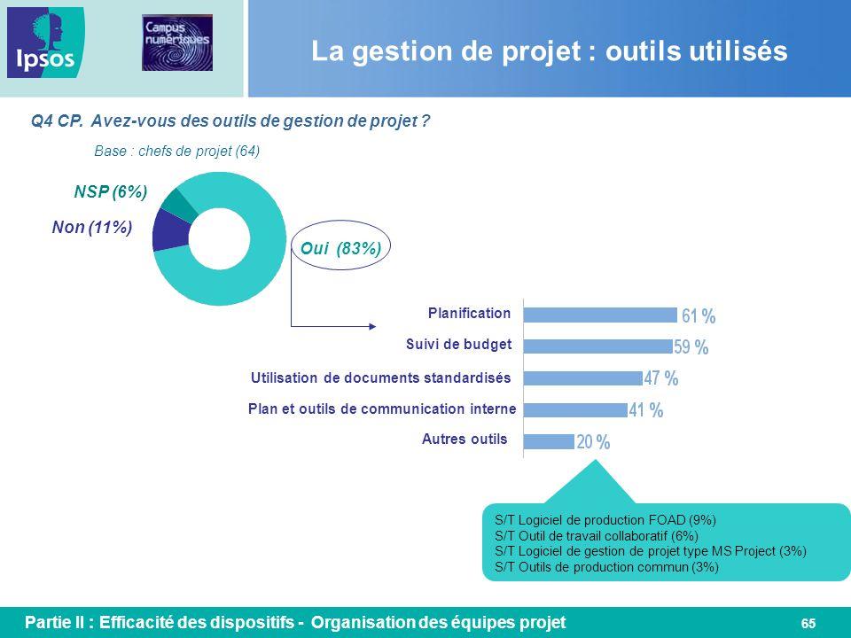 La gestion de projet : outils utilisés