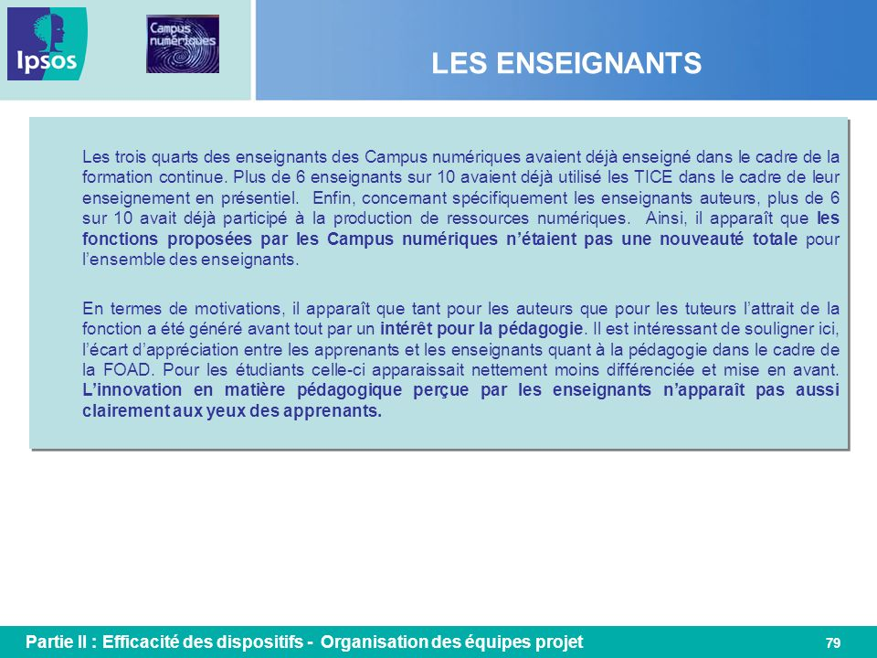 LES ENSEIGNANTS