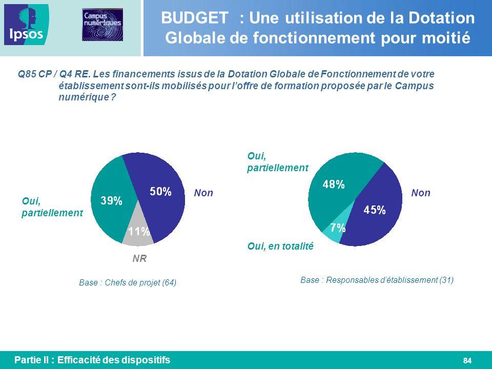 BUDGET : Une utilisation de la Dotation Globale de fonctionnement pour moitié