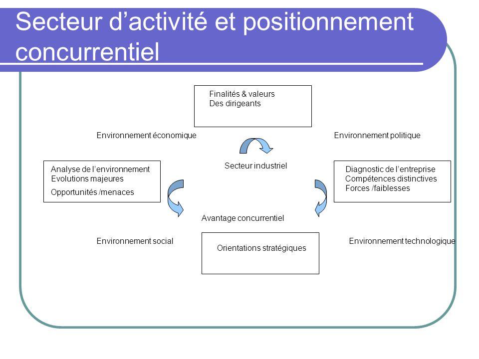 Secteur d'activité et positionnement concurrentiel