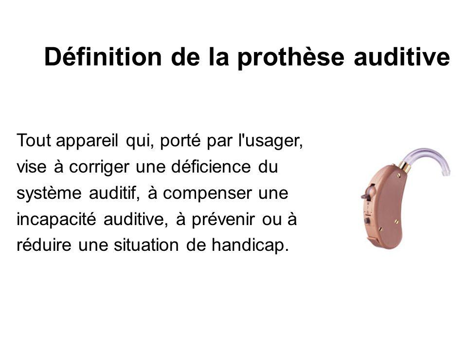 Définition de la prothèse auditive