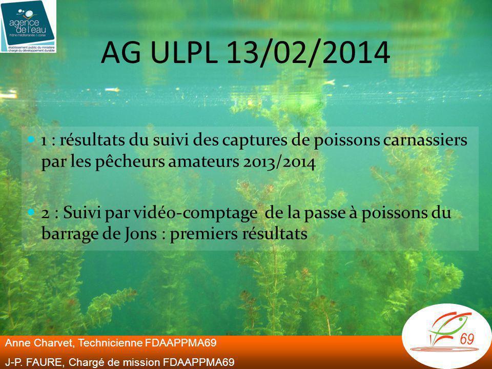 AG ULPL 13/02/2014 1 : résultats du suivi des captures de poissons carnassiers par les pêcheurs amateurs 2013/2014.